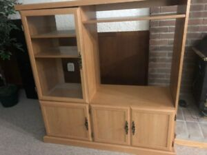 LIGHT BROWN WALL UNIT - FREE in Peterborough!