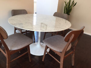 48'' marble dining table bought from ELTE (retails for $2,265)