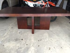 Solid Wood Table Only $250 (needs a bit of repair) Strathcona County Edmonton Area image 1