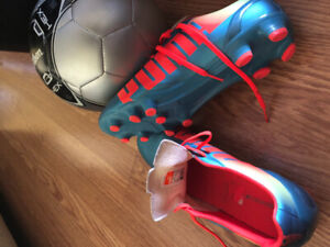 Puma Soccer Shoes 10 and soccer ball