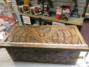 EAGLE, BEAR, WOLF, SALMON, WHALE HANDCARVED BOX BY ART HARRY