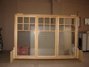 New Large Custom-made Solid Wood Casement Window