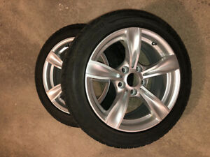 4 winter tires & mags 225R50/17 on BMW bolt size 5-120. 12000 km