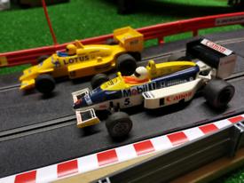 2 x Scalextric Formula 1 cars VGC F1