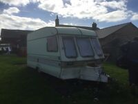 Swift corniche 2 berth caravan 1980s has damp issues ideal site cabin or restoration project