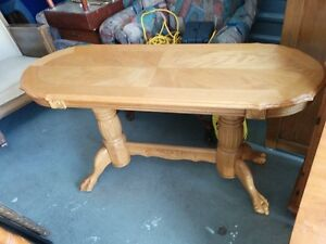 Beautiful Solid Oak Claw Foot Hallway/Entryway Sofa Table