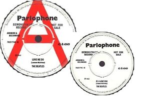 THE BEATLES-LOVE ME DO-PAIR OF CUSTOM DEMO A- LABELS-CUSTOM