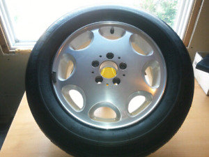 3 Mercedes Michelin winter tires and Alloy rims R16.