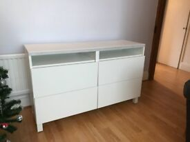 Ikea Besta tv unit with drawers