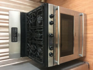 "Bosch 30"" gas stainless steel stove range convection fan oven"
