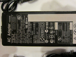 IBM power adapter with 16 Volt DC output for laptop
