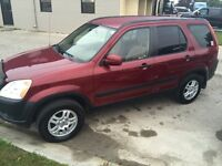2004 Honda CRV Safety E Test New Michelins Clean 4 WD Automatic