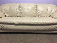 Lovely Leather Couch and Love Seat