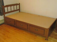twin bed with storage drawers