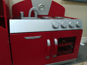 Wooden playset- stove and fridge