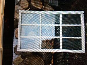 Steel door window