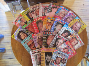 Vintage Circus and other magazines from the vinyl record years