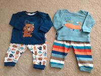 I MOTHERCARE Pyjamas 2 pair mix & match 3-6 months hardly worn