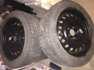 jentes et pneus d'hiver a vendre