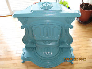 ANTIQUE WOOD BURNING STOVE-HARTSHORN AND AMES