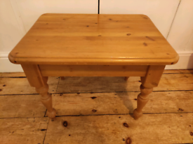 Small pine coffee table