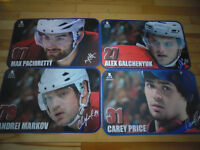 Set of Montreal Canadiens Placemats