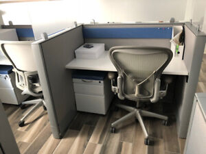 Office cubicles/Workstations, Aeron & Zody Task Chairs