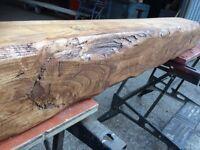 Solid hardwood beam mantel oak new heavily worked delivered any uk destination