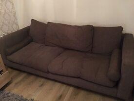 Brown 3 seater sofa & armchair £150ono