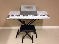 Casio WK-225DXAB Keyboard with stand and stool