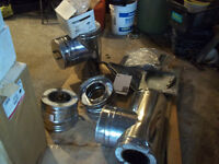 stove pipes , tees,elbows,adapters,reducers and more 6'' 7'' 8''