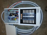 New automatic transfer switch, 600V transformers combination