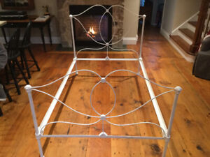 Turn of the century Antique wrought iron bed