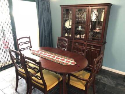 Extendible Solid Black Wood Dining Table
