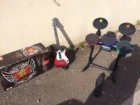 PlayStation 3 guitar band hero