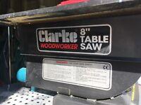 "Clarke Woodworker 8"" Table Saw"