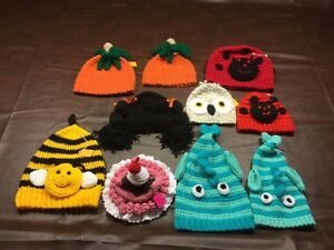 Assorted Hand Crocheted Kids Toques