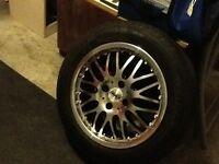 Alloy wheels set off four