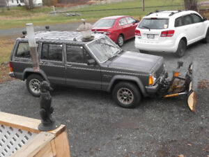 1989 jeep cheroke with plow