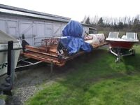 MOBILE DIMENSION SAW MILL TANDEM AXLE TRAILER CUTS 26FT APP