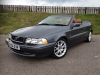 2004 VOLVO C70 2.3T T5 20V CONVERTIBLE - 53K MILES - STUNNING - RARE SPEC - 3 MONTHS WARRANTY