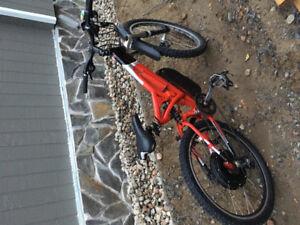 Vélo double suspension Norco   Conversion électrique 1000 W