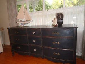 French Country Nine Drawer Dresser/ Side Board