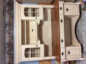 Two piece desk hutches ( country antique look)