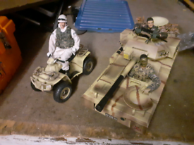 Hm armed forces toy tank and quad
