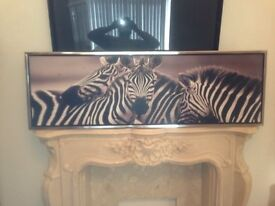 BEAUTIFUL LARGE PICTURE CHROME FRAME