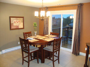 Pub style height kitchen table and chairs set