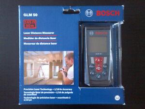 NEW Bosch Laser Distance Measurer with 165-Feet Range