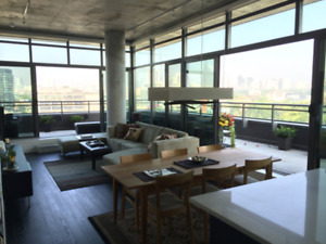 Furnished Luxury Penthouse Queen & Broadview - Short Term