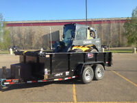 Stolen equipment skid steer and dump trailer
